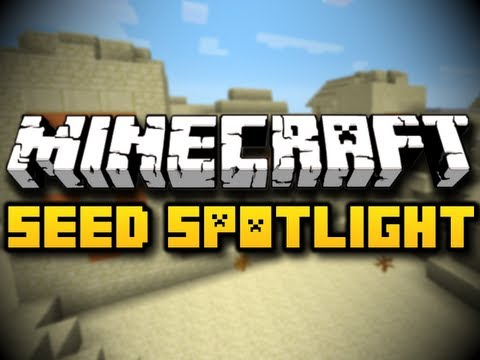 Minecraft Seed Spotlight #28 - DIAMOND VILLAGE STRONGHOLD! (HD)