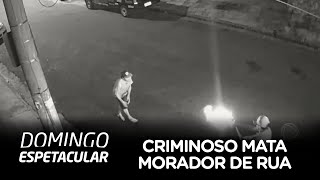 Criminoso em carro de luxo mata morador de rua no ABC Paulista
