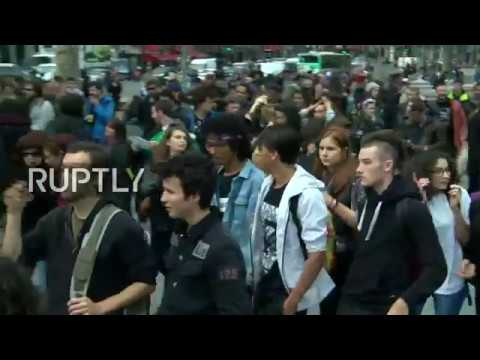 LIVE: Protests against labour law reforms take place in Paris