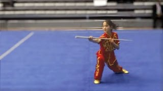 5th World Junior Wushu Championships, Group B Girls Gunshu CHN Ai Xuan WEI 9.09