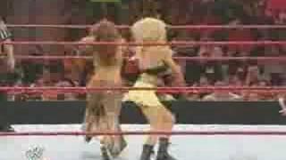 Mickie James and Kelly Kelly VS Layla and Jillian 7/7/08