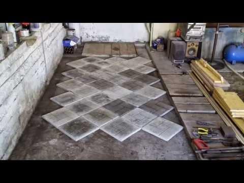 Тротуарная плитка для гаража своими руками 53
