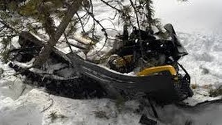INSANELY FUNNY snowmobile crash and fail complition!