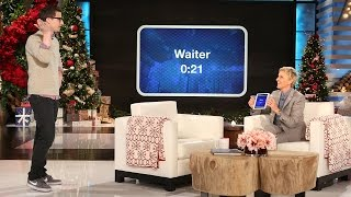 Andy Samberg Plays 'Heads Up!' with Ellen