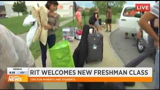 RIT on TV: Move-in Day, with new student