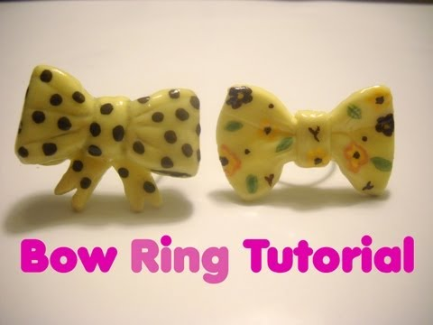Tutorial Anillo Porcelana Fría - Bow Ring Tutorial COld Porcelain