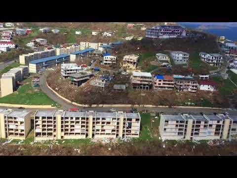 9/17/17 Aerial Footage Grandview to Tutu, St Thomas USVI after Hurricane Irma
