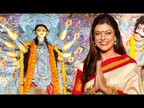 Gorgeous Sushmita Sen Celebrates Durga Puja video