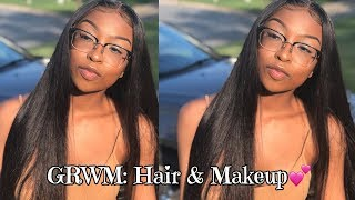 GRWM: EVERYDAY GLAM | HAIR & MAKEUP | FT. ISEE HAIR | Lovevinni_