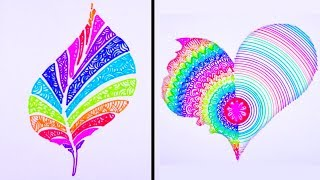 Most Amazing Art Video | 23 Smart Drawing Tricks 🌹