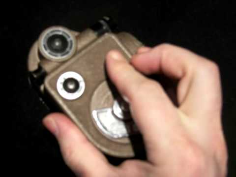 """Antique """"The Revere"""" 1940 first super 8mm Hand Held Movie Camera"""