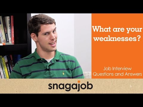 best answer what are your strengths and weaknesses interview