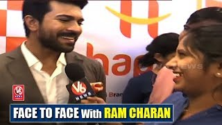 Face To Face With Ram Charan At Launch Event Of Happi Mobiles | Teenmaar News