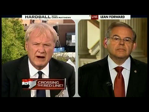 Senator Menendez Talks to Chris Matthews about the Situation in Syria
