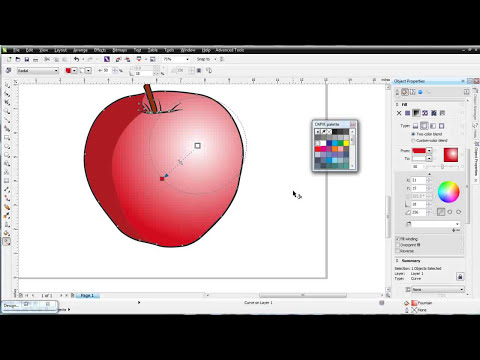 CorelDRAW X6 for beginners vector fills