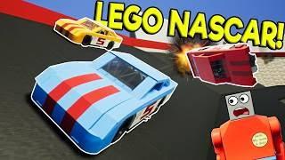 LEGO NASCAR RACE & CRASHES! - Brick Rigs Multiplayer Challenge Gameplay - Lego NASCAR Racing