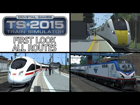 Train Simulator 2015 - First Look - Hitachi Class 801 / Amtrak ACS-64 / DB BR 411 ICE-T