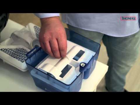 Влажная уборка пылесосом Thomas c системой Aqua-Box
