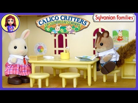 Sylvanian Familes Calico Critters School Friends Setup and Play in Berry Grove School - Kids Toys