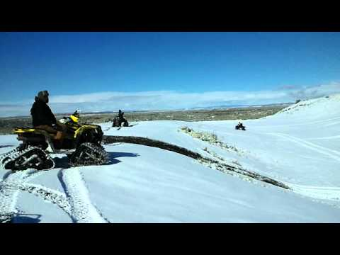 Epic and Ultimate Wheelie on a four wheeler! 750 with tracks