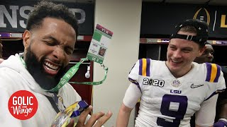Joe Burrow said Odell Beckham Jr. gave him real cash after the CFP Championship | Golic and Wingo
