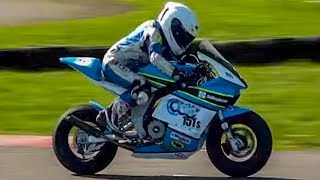 Kids aged 8+ racing motorcycles: Cool FAB British Minibikes Champ 2017: Rd 1, Part 3