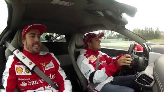 Barcellona - Hot Laps Ferrari 458 di Alonso e Massa