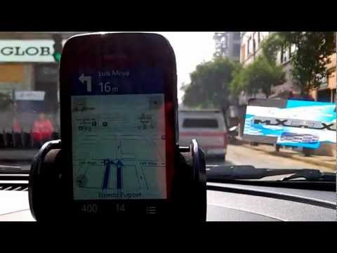 Probando el GPS del movil Nokia lumia 710 en  Mexico