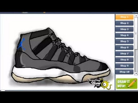Jordan 13 Shoes Drawing How to Draw Air Jordan Space