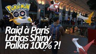 Seb et Ouss : Raid Latias à Paris à la recherche du Shiny + bonus Palkia ! - Pokémon Go