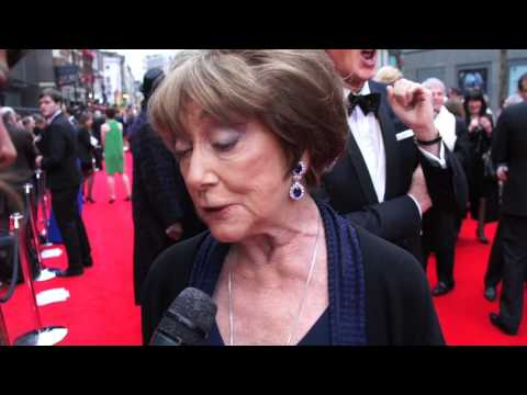 Lizzie Cundy meets Daniel Radcliffe at The Oliviers 2013
