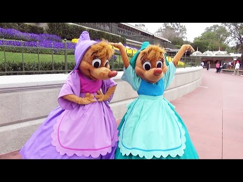 We Meet Suzy and Perla From Cindererella at the Magic Kingdom, Walt Disney World