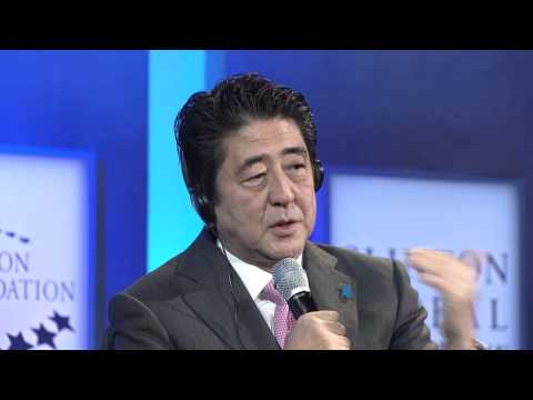 Equality For Women and Girls: Discussion with Prime Minister Shinzo Abe - CGI Annual Meeting 2014