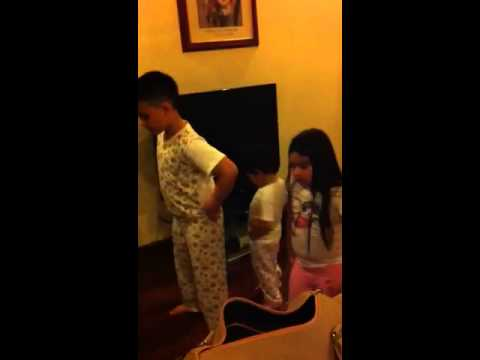 me,my sister,and my brother dancing the oompa loompa song f