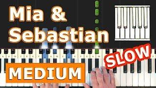La La Land - Mia & Sebastian's Theme - Piano Tutorial Easy SLOW - How To Play (Synthesia)
