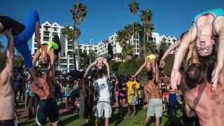 Acro AcroYoga Muscle Beach Breakdown with Tari Mannello