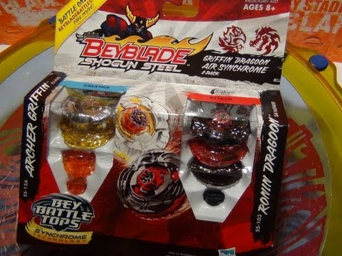Beyblade Shogun Steel GRIFFIN DRAGOON AIR SYNCHROME 2-PACK ~Unboxing~Review~Test~
