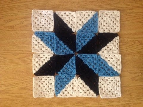 How to Crochet a Multi Color Granny Square Star Afghan ...