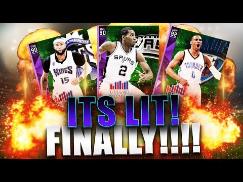 FINALLY ITS LIT! NBA 2k16 MyTeam Updated Dynamic Ratings Lineup!