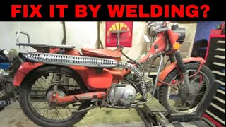 pt 2, Honda Trail 90 Sitting 37 years, fixing the rotted exhaust for free.
