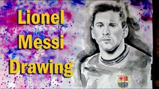 Drawing Lionel Messi barcelona 2018
