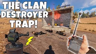 RUST | TRAPPING SALTY CLANS with sneaky *NEW* WIRELESS AUTO TURRET MACHINE! *NEW UPDATE*