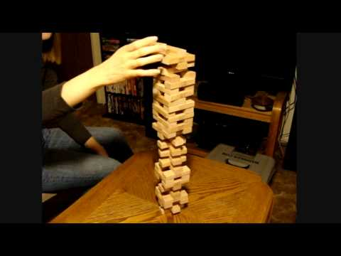 Jenga record? 36 layers game build fun fast record video how to