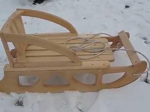 Как сделать санки с дерева