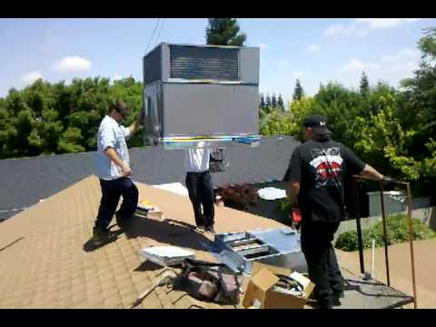 Air Conditioning Rooftop Install Youtube