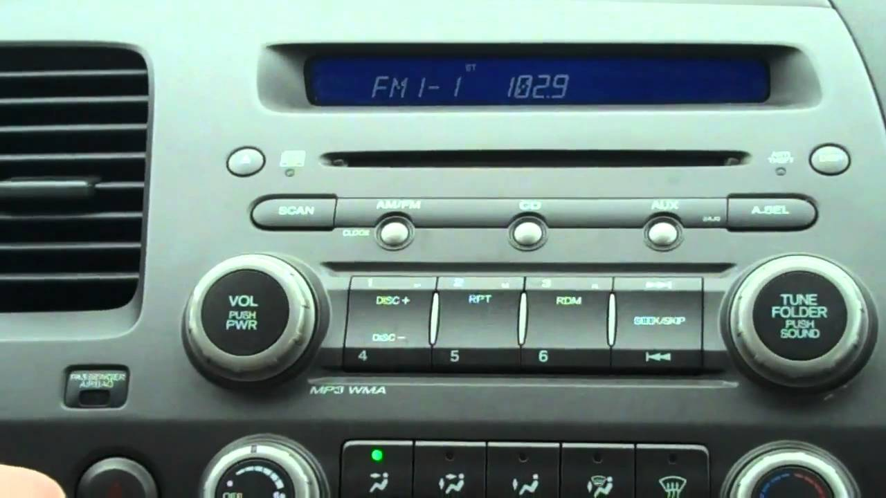 How To Reset Your Honda Radio Code Townsend Honda Youtube