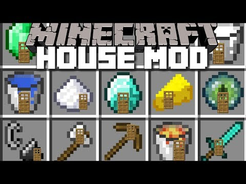 Minecraft ITEM HOUSE MOD / PLACE DOWN ITEMS AND SPAWN INSTANT STRUCTURES!! Minecraft