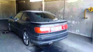 Audi coupe 2.8 128kw on the dyno stand