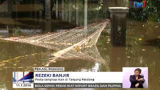 REZEKI BANJIR - PESTA TANGKAP IKAN DI TANJUNG MEDANG, PEKAN [11 JAN 2018]
