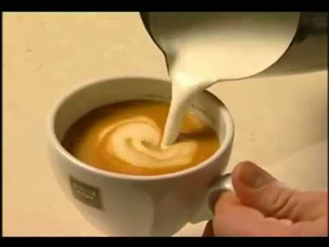 how to do a coffee milk design youtube. Black Bedroom Furniture Sets. Home Design Ideas